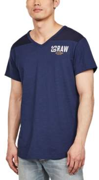 G Star Raw Men's Two-Tone V-Neck T-Shirt, Created for Macy's