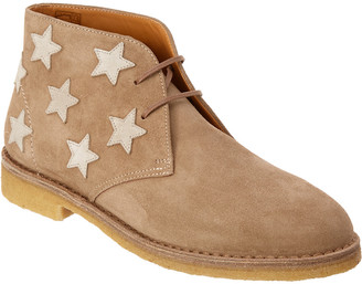 Saint Laurent Desert Star Embroidered Suede Ankle Boot