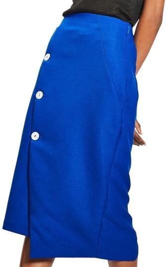 TopshopWomen's Topshop Button Midi Skirt