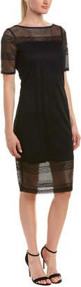 Three Dots Raschel Lace Sheath Dress