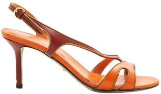 Sergio Rossi Orange Leather Sandals