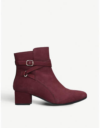Carvela Comfort Renee buckled leather ankle boots