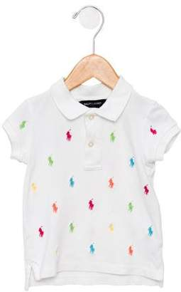 Ralph Lauren Girls' Embroidered Polo Top