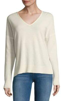 Leo & Sage Double V-Neck Cashmere Sweater