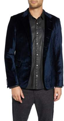 John Varvatos Velvet Dinner Jacket with Leather Trim