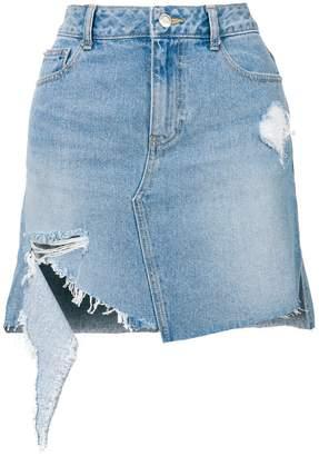 Sjyp distressed denim skirt
