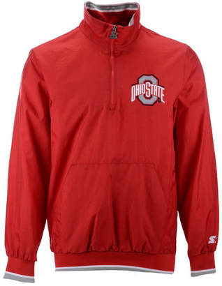 Starter Men Ohio State Buckeyes Lightweight Nylon Quarter-Zip Pullover