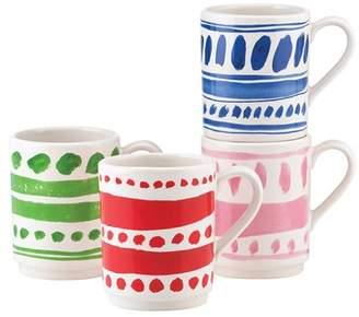Kate Spade 'all In Good Taste' 'words' Stackable Ceramic Mugs (Set Of 4)