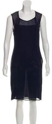 Philosophy di Alberta Ferretti Sheer Knee-Length Dress