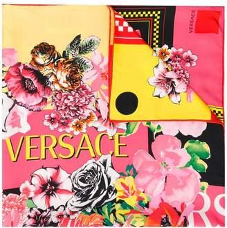 Versace floral print scarf