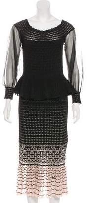 Alexander McQueen Peplum Midi Dress