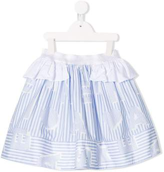 Simonetta striped skirt