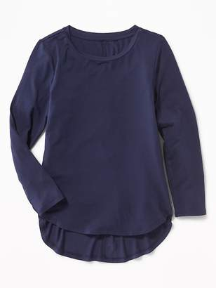 Old Navy Relaxed Jersey Tulip-Hem Top for Girls