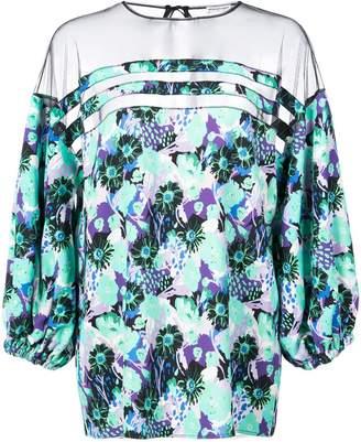 Ungaro sheer panel blouse