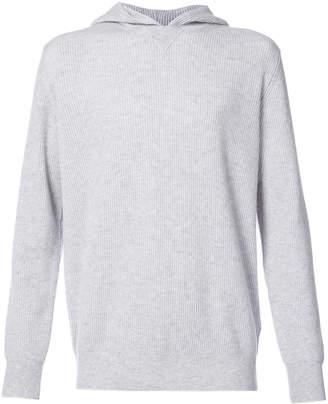Eleventy ribbed hoodie