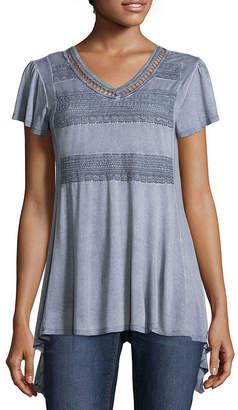 Artesia Short Sleeve Scoop Neck T-Shirt-Womens