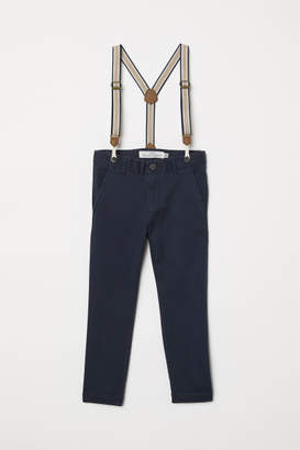 H&M Pants with Suspenders - Blue