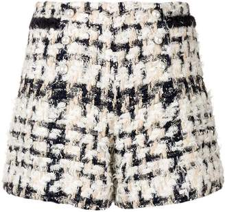 Edward Achour Paris pearl buttons tweed shorts