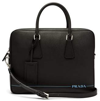 Prada Saffiano Leather Briefcase - Mens - Black f44b2efe87