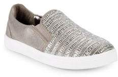 Stuart Weitzman Girl's Vance Glitz Slip-On Sneakers