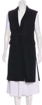 Veronica Beard Virgin Wool Knee-Length Vest