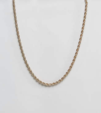 Reclaimed Vintage inspired rope chain necklace in gold exclusive to asos