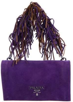 Prada Camoscio Fringe Flap Bag