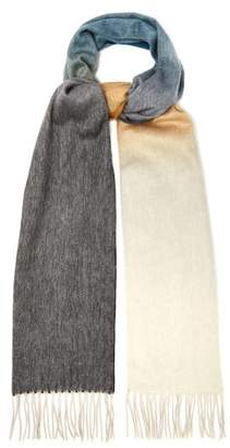Co Begg & Ombre Cashmere Scarf - Mens - Grey Multi