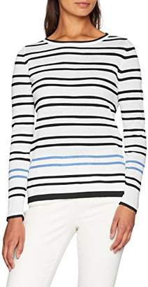 Crew Clothing Women's Holbeck Jumper (Navy/Glass Blue/White)