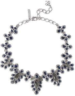 Oscar de la Renta Silver-Tone Crystal And Stone Necklace