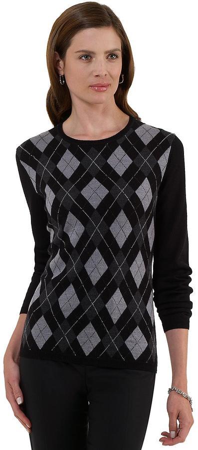 Merino Argyle Crewneck Sweater