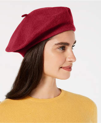 INC International Concepts I.N.C. Solid Wool Beret, Created for Macy's