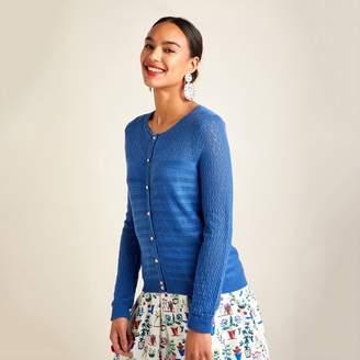 d4610862373 at Debenhams · Yumi - Blue Ripple Stitch Lace Cardigan