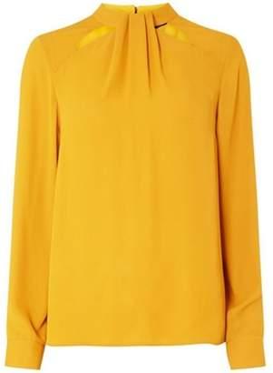 Dorothy Perkins Womens Mustard 'Emily' Long Sleeve Top
