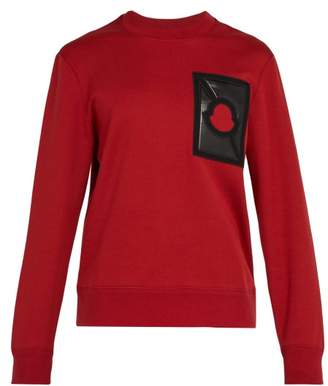 Craig Green 5 Moncler Logo Patch Cotton Blend Sweatshirt - Mens - Red
