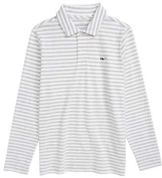 Vineyard Vines Stripe Long Sleeve Polo