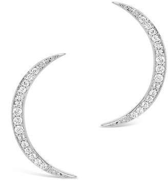 Sterling Forever Sterling Silver Pave Cubic Zirconia Crescent Moon Earrings