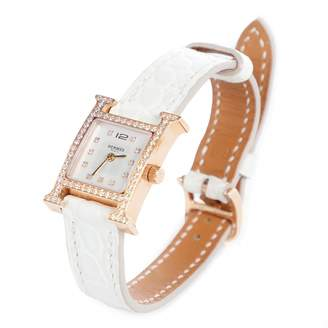 Hermes Heure H White Pink gold Watches