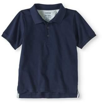 Cherokee Boys' School Uniform Short Sleeve Pique Polo With Cooling Fabric
