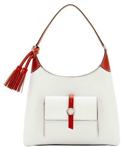 Dooney & Bourke Cambridge Small Hobo Shoulder Bag - WHITE - STYLE