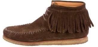 Saint Laurent Fringe-Trimmed Desert Boots