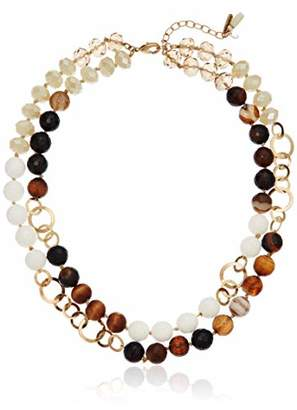 lonna & lilly Worn Gold/ 2 Row Collar Necklace