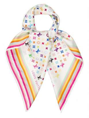 Louis Vuitton White Silk Scarves