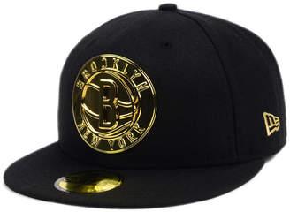New Era Brooklyn Nets Current O'Gold 59FIFTY Cap