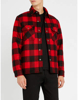 Sandro Lumberjack checked wool-blend jacket