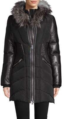 Courchevel Fox Fur-Trimmed Down Jacket