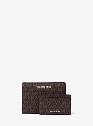 Michael Kors Jet Set Medium Logo Slim Wallet