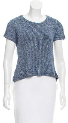 Thakoon Embroidered Rib Knit Top