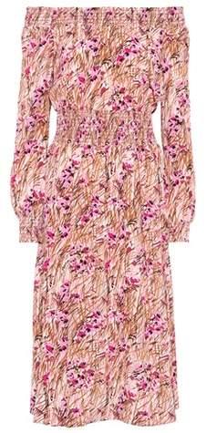 Prada Silk off-the-shoulder dress