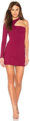 Susana Monaco One Sleeve Cut Out Mini Dress